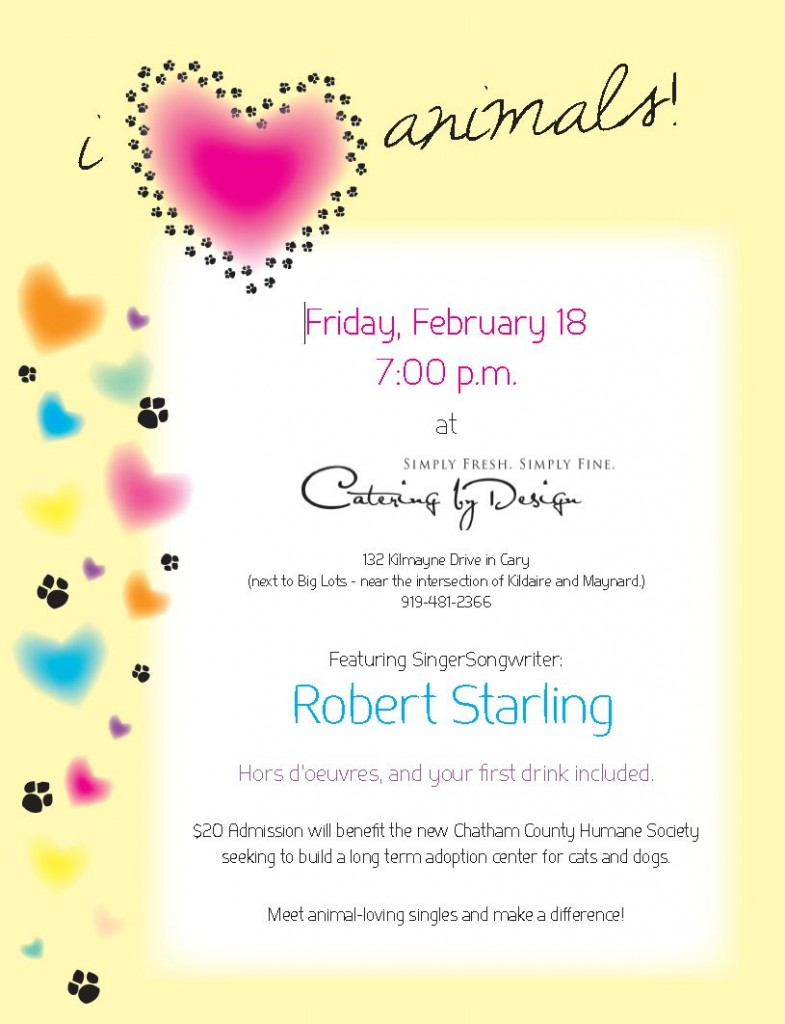Cary, NC Singles Event on Friday February 18, Raises Funds for Animals