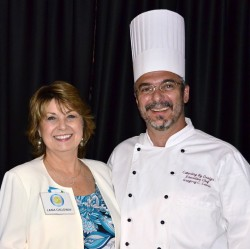 Exhibit Resources CEO Lana Callaway, stands with Catering by Design CEO Chef Greg Lewis