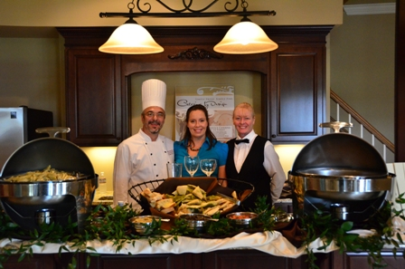Chef Greg Lewis, Jen, our sales manager, and Cheri, one of our wonderful servers