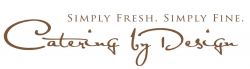 Raleigh catering service company Catering by Design's logo