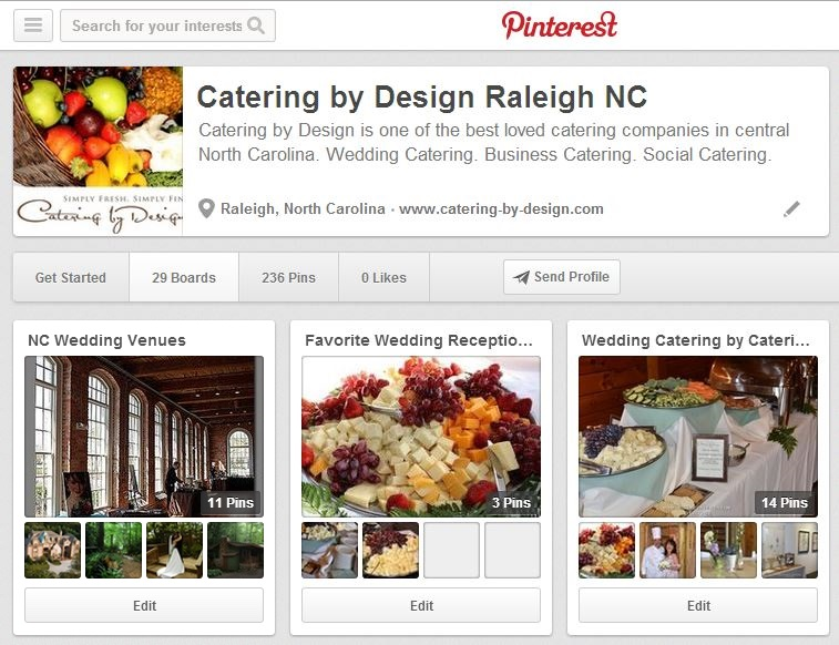 Catering by Design Pinterest