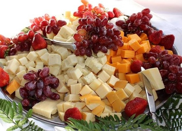 Gorgeous cheese and fruit tray by Catering by Design