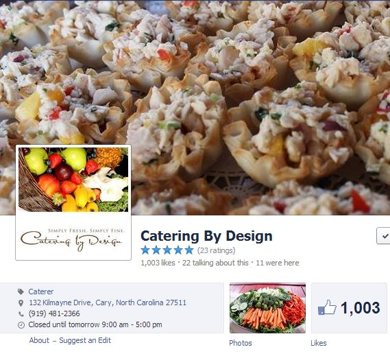 Catering by Design Facebook