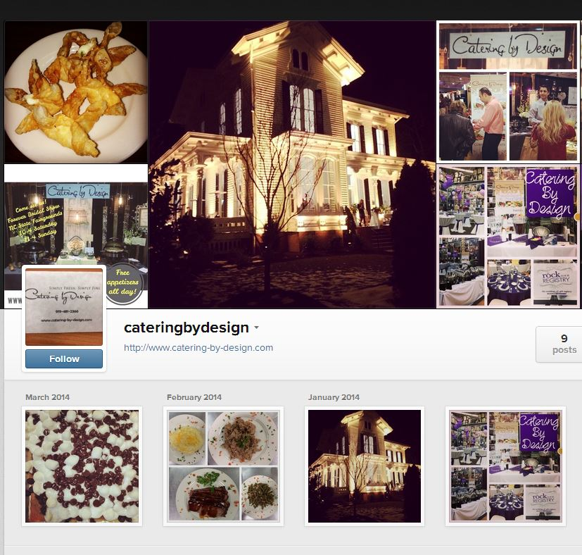 Catering by Design Instagram