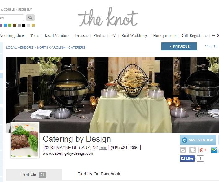 Catering by Design on The Knot