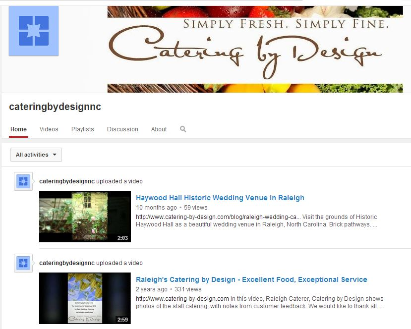 Catering by Design on YouTube