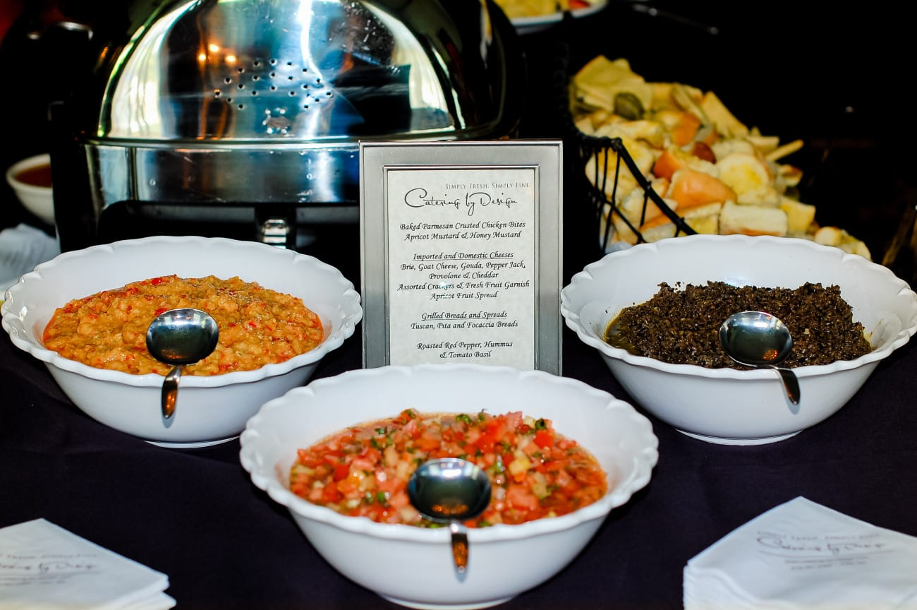 NC Wedding Catering spreads