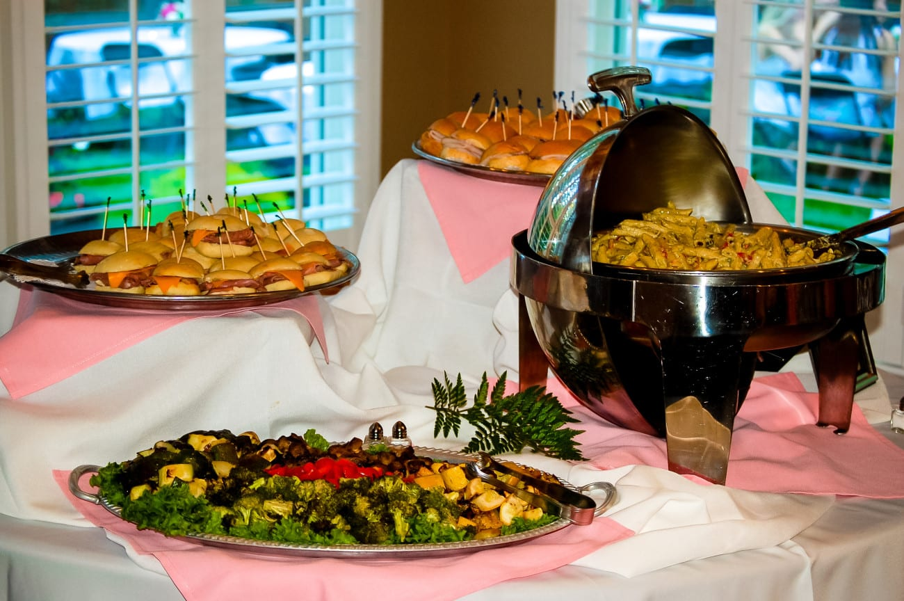 social event catering in Raleigh, NC food