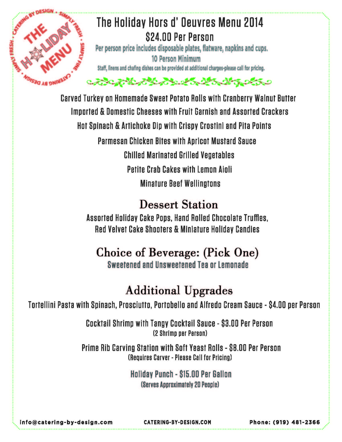 Holiday Catering In Raleigh