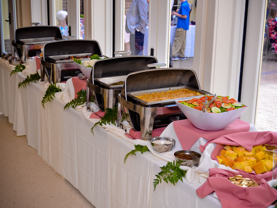 page walker center spring wedding catering raleigh nc