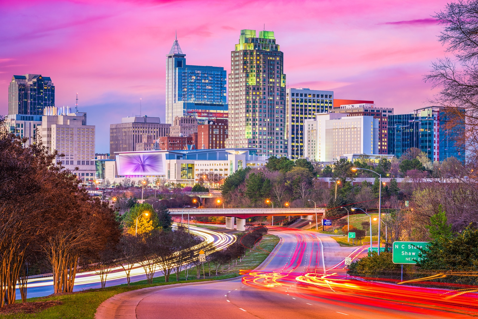 Raleigh north carolina usa downtown city skyline catering by design - Wallpaper store charlotte nc ...